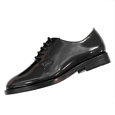 בגדי ריקוד נשים נעליים גומי אביב / סתיו נוחות נעלי אוקספורד עקב עבה בוהן עגולה שחור