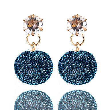 בגדי ריקוד נשים קריסטל עגילי טיפה - קריסטל אופנתי סגול / חום / כחול עבור יומי / ליציאה