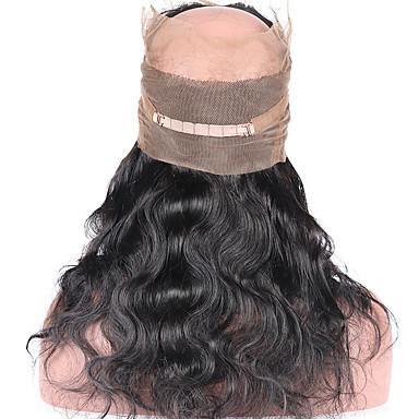 povoljno Perike i ekstenzije-ELVA HAIR Brazilska kosa 360 Frontalni Tijelo Wave / Klasika Besplatno dio / Središnji dio / 3. dio Švicarska čipka Ljudska kosa Dnevno