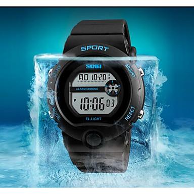 SKMEI שעון יד Chinese לוח שנה / עמיד במים / שעון עצר PU להקה יום יומי / אופנתי שחור / זוהר בחושך
