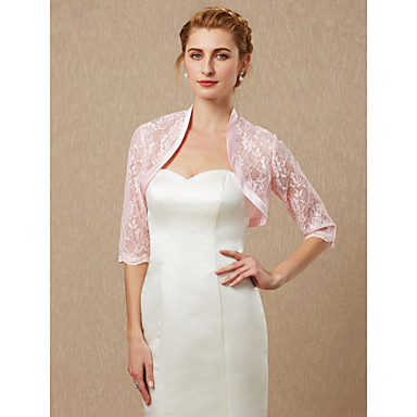 חצי שרוול תחרה חתונה / מסיבה\אירוע ערב כיסויי גוף לנשים עם תחרה בולרו