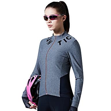 SANTIC Mulheres Manga Longa Camisa para Ciclismo - Cinzento Moto Camisa/Roupas Para Esporte
