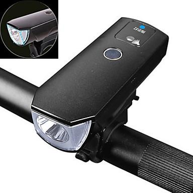 Cykellyktor LED-strålkastare LED Cykelsport Smart LED-belysning Vattentät Med smart identifiering Uppladdningsbart Batteri 350 Lumen USB