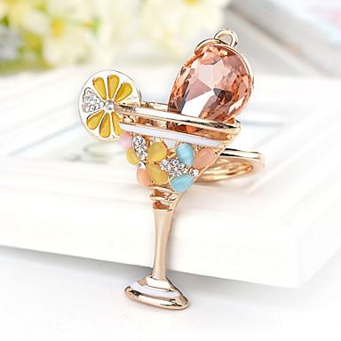 חתונה / חברים / יומהולדת מצדדים במחזיק מפתחות אבן נוצצת / ציפוי זהב מזכרות מחזיקי מפתחות - 1 pcs