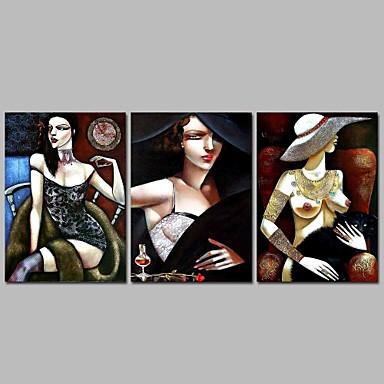 abordables Toiles-Imprimé Impression sur Toile Moderne Trois Panneaux Art Prints