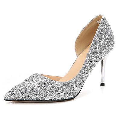 Brillante Chaussures Paillette Aiguille Talon 06569337 Automne Chaussures Bout Eté Paillette Femme Talons Escarpin pointu Basique à Noir p1qwEqd