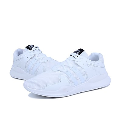 Men's Light Soles / Net / Tulle Summer / Soles Fall Comfort Athletic Shoes Running Shoes White / Black / Black / White 0f8a26