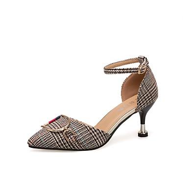 Mujer Zapatos Cuero / PU Verano Confort Sandalias Tacón Kitten Dedo Puntiagudo Negro / Amarillo / Caqui Le Plus Grand Fournisseur En Vente Coût Pas Cher En Ligne En Gros À Prix En Ligne OxoSPY5qz