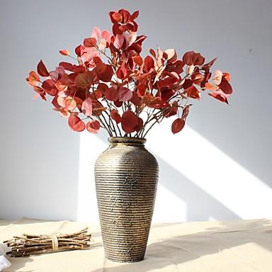 פרחים מלאכותיים 1 ענף כפרי / סגנון מינימליסטי צמחים פרחים לרצפה