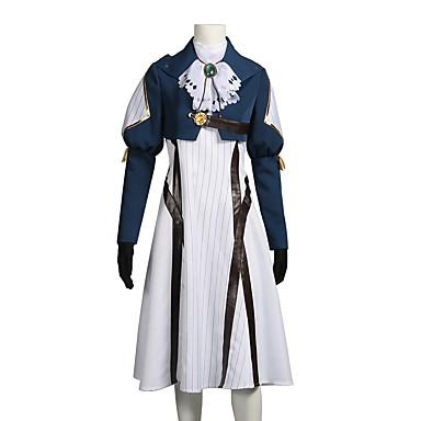 קיבל השראה מ ויולט אוורגרדן ויולט אוורגרדן Zeppeli אנימה תחפושות קוספליי חליפות קוספליי שמלות אחר שרוול ארוך עניבה מעיל שמלה כפפות עוד