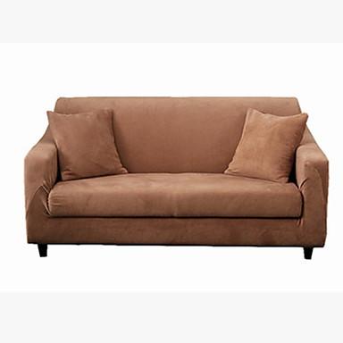 עכשווי 100% פוליאסטר ג'אקארד כיסוי ספה דו מושבית, פשוט אחיד הדפס כיסויים