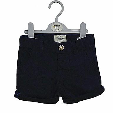 מכנסיים כותנה שרוולים קצרים אחיד פשוט / יום יומי בנים פעוטות