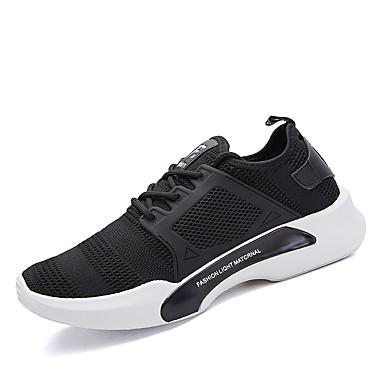 בגדי ריקוד גברים בד אביב / סתיו נוחות נעלי אתלטיקה ריצה שחור / אפור