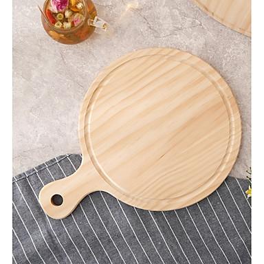יחידה 1 עץ איכות גבוהה אביזרי בישול מגש מקלף פיצה, כלי אוכל