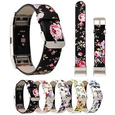 Watch Band na Fitbit Charge 2 Fitbit Bransoletka skórzana Skóra naturalna Opaska na nadgarstek