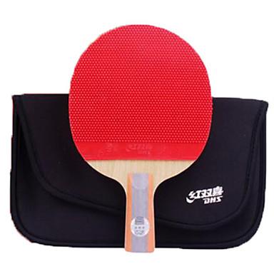 81fac3f51 DHS® R6006-R6007 Ping Pang   Tabela raquetes de tênis Madeira   Borracha 6