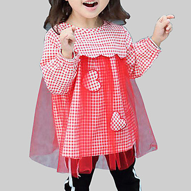 שמלה חוטי זהורית פוליאסטר אביב סתיו שרוול ארוך יומי ליציאה משובץ טלאים הילדה של יום יומי סגנון רחוב שחור אודם צהוב