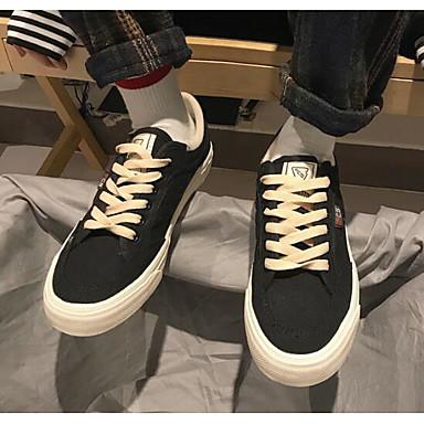 Męskie Komfortowe buty Materiał Wiosna / Jesień Adidasy Biały / Czarny