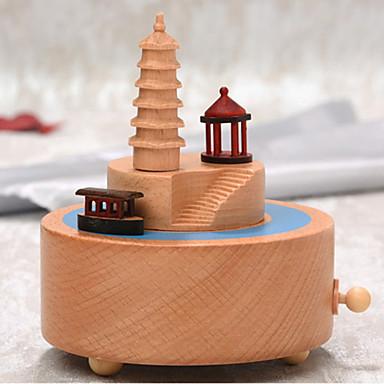 התאמה אישית עץ Music Box כלה שושבינה חברים תינוק וילדים לבוש יומיומי