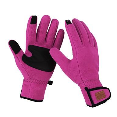 abordables Gants Velo-Gants hivernaux Gants vélo / Gants Cyclisme Ecran tactile Chaud Coupe Vent Respirable Gant Tactile Gants sport Hiver Polaire Torchon VTT Vélo tout terrain Violet Rouge de Rose Bleu pour Adulte