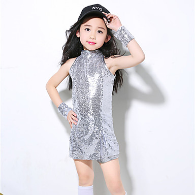 d29114b7d Jazz Outfits Training Polyester Paillette Sleeveless High Top ...