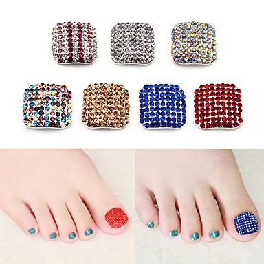 voordelige Nagelgereedschap & Apparatuur-2 Tips voor kunstmatige nagels Voor Teennagel Multi-ontwerp / Strass Nagel kunst Manicure pedicure Eenvoudig / Bling bling