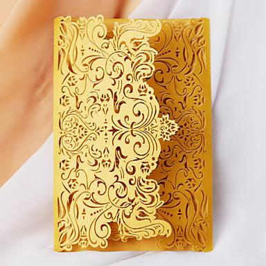 """billige Bryllupsinvitasjoner-Flat Kort Bryllupsinvitasjoner 20-pack - Invitasjonssett Kunstnerisk Stil Perle-papir 5 """"× 7 ¼"""" (12,7 * 18.4cm)"""