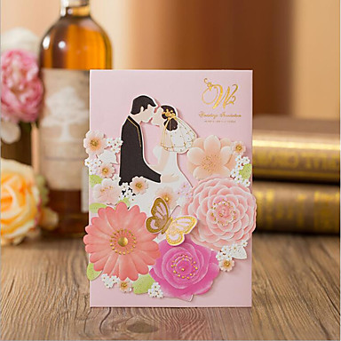 מתקפל בצורת שער הזמנות לחתונה כרטיסים למסיבת אירוסין כרטיסים למסיבת כלה כרטיזים לברית/בת מילה כרטיסים ליום האם לדוגמא הזמנה כרטיסי הזמנה