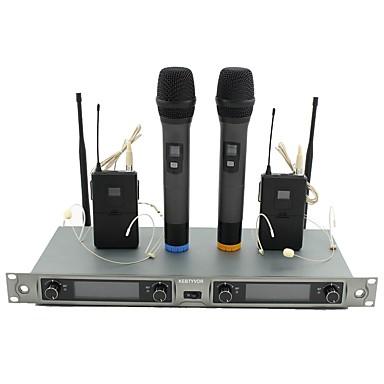 abordables Microphones-KEBTYVOR KG88 Câblé / 6.3mm Microphone Micro Microphone Dynamique Microphone à Main / Microphone Clip à Cravate Pour Microphone de