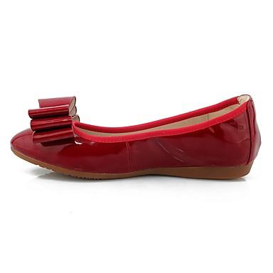 Bout Noeud Cuir Bourgogne Ballerine Talon Verni Argent 06601305 Femme Printemps Automne rond Plat Ballerines Or Chaussures Confort Uq7vwv