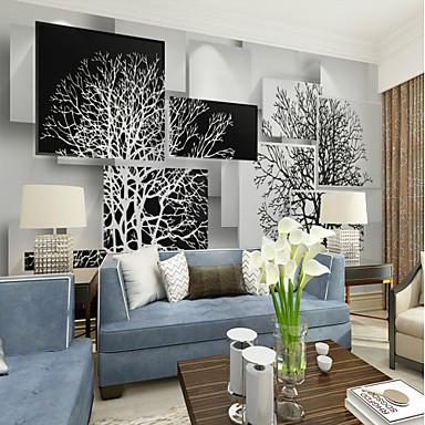 6584501af33 černá a bílá umělecký strom vlastní 3d velké stěny pokrývající nástěnné  tapety vhodné restaurace tv pozadí