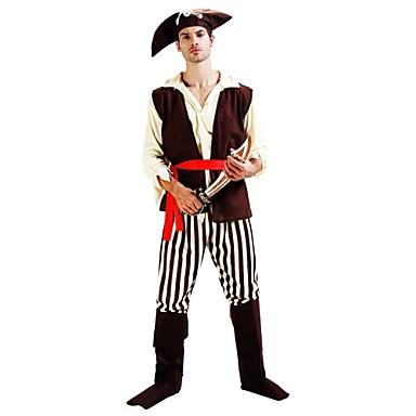 Piraci z Karaibów Kostium Męskie Damskie Halloween Karnawał Dzień Dziecka Festiwal/Święto Kostiumy na Halloween Stroje Beżowy Solidne kolory Halloween