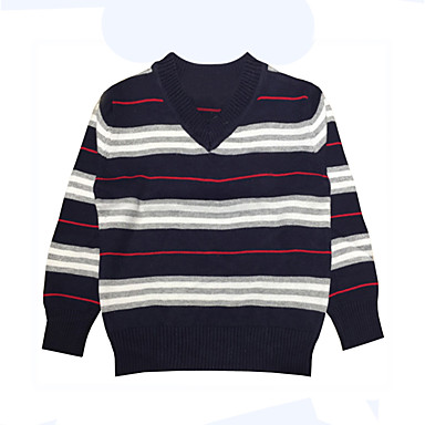 a27c3f10053758 Toddler Boys  Simple Daily   Holiday Striped Stripe Long Sleeve Regular  Cotton Sweater   Cardigan Black