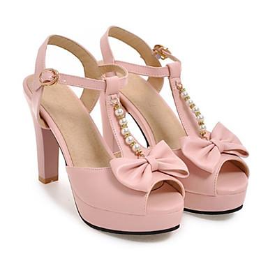Eté Confort Polyuréthane Femme Sandales Bout 06571446 Chaussures Aiguille Noir Boucle ouvert Rose Talon Rivet Printemps Noeud Nouveauté ntFIqI