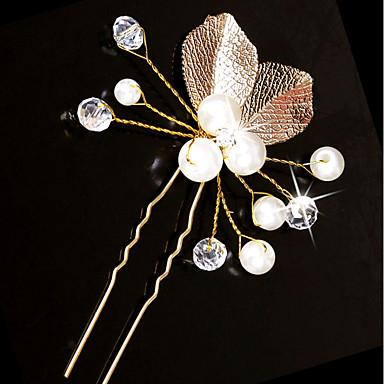 Imitacja pereł / Kabel miedziany Szpilka do włosów z Sztuczna perła / Dodatki kryształowe 1 szt. Ślub Winieta