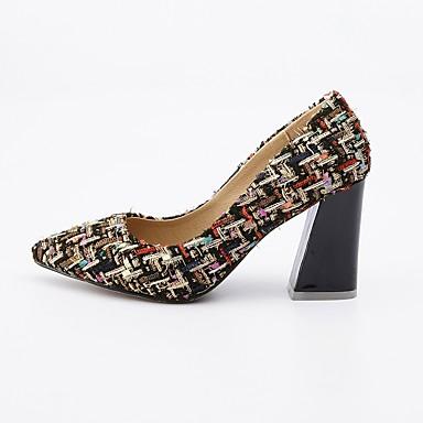 Talons Jane Printemps Noir Chaussures Evénement Talon Tissu Soirée Chaussures amp; Bobine Mary à Femme 06590709 Beige pointu Bout Automne Ew8XgEq