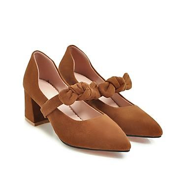 Jaune pointu Talons Eté Talon Similicuir Chaussures Chaussures 06574386 Noir Bottier Printemps Bout Beige à Femme Confort P0S6qaSw