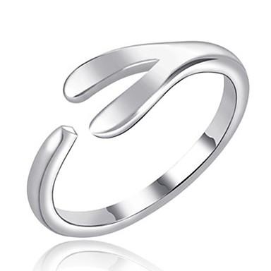 בגדי ריקוד נשים גיאומטרי קאף טבעת - סגסוגת פשוט, אופנתי מתכוונן כסף עבור יומי / משרד קריירה