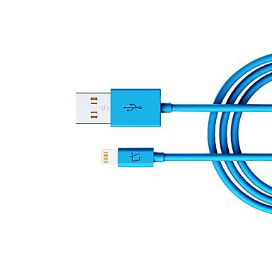 Oświetlenie Adapter kabla USB Przenośny / Wysoka prędkość Na iPhone 100 cm Na Nylon