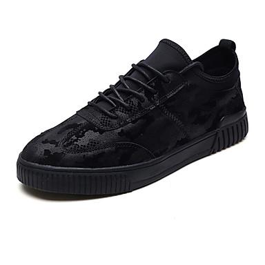 Męskie Komfortowe buty Wyczeski Wiosna / Jesień Adidasy Czarny / Szary / Czarny biały