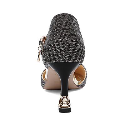 de Basique à microfibre Gladiateur Talons Printemps Chaussures 06604179 Escarpin Femme Automne synthétique Talon PU Chaussures Bottier Bout RwpgWxz