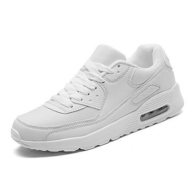 Unisex Schuhe PU Frühling Herbst Komfort Flache Schuhe Walking Schnürsenkel für Normal Weiß