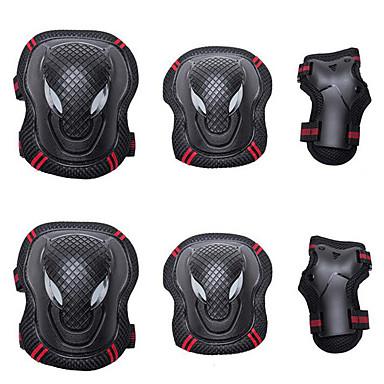 billige Scootere, skateboard og rulleskøyter-Knebeskyttere, albuebeskyttere og håndleddsbeskyttere til Rulleskøyter / Hoverboard Pustende / Beskyttende 6-pakning