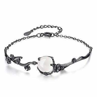 voordelige Dames Sieraden-Dames Jade Maansteen Armbanden met ketting en sluiting Bloem Dames Modieus Legering Armband sieraden Zwart Voor Dagelijks Formeel