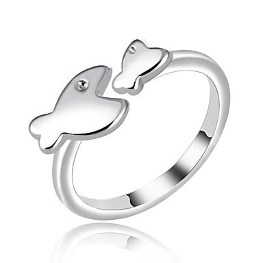 בגדי ריקוד נשים קאף טבעת / טבעות לפרקי האצבעות - נחושת דגים אופנתי מתכוונן כסף עבור יומי / משרד קריירה