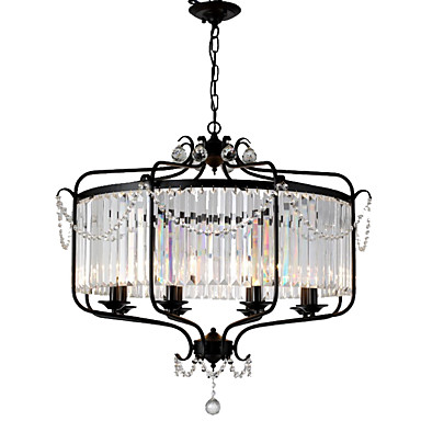LightMyself™ 8 świateł Żyrandol / Lampy widzące Światło rozproszone Malowane wykończenia Metal Kryształ 110-120V / 220-240V Nie zawiera żarówek / E12 / E14
