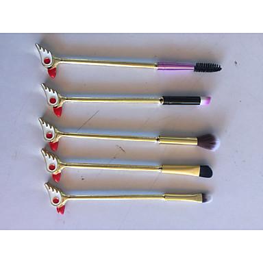 5-opakowanie Pędzle do makijażu Profesjonalny Pędzelek do różu / Pędzelek do ust / Szczotka do rzęs Włosie synetyczne Przyjazne dla środowiska / Miękka / Miseczka pełna Aluminium Anodyzowane