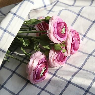 פרחים מלאכותיים 1 ענף פרחי חתונה / פסטורלי סגנון ורדים פרחים לשולחן