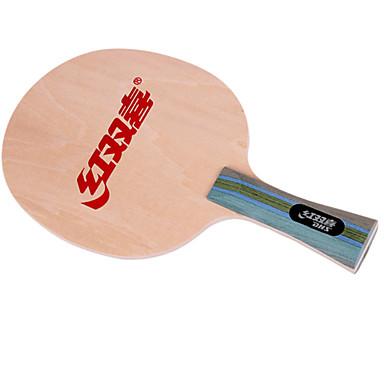 DHS® S-4 Ping Pang/מחבטי טניס שולחן עמיד עץ 1