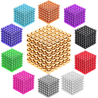 cheap Toys & Games-216 pcs 3mm Magnet Toy Magnetic Balls Building Blocks Super Strong Rare-Earth Magnets Neodymium Magnet Stress and Anxiety Relief Office Desk Toys DIY Kid's / Adults' / Children's Unisex Boys' Girls'